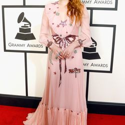 Florence Welch at the 2016 Grammys. Photo: Jeff Vespa/Getty Images.
