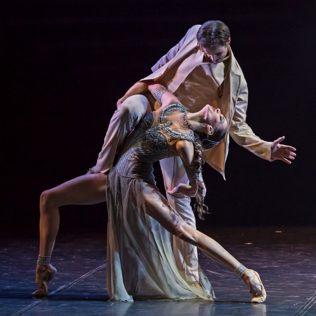 """A scene from choreographer Boris Eifman's Jazz Age ballet, """"Up and Down."""""""