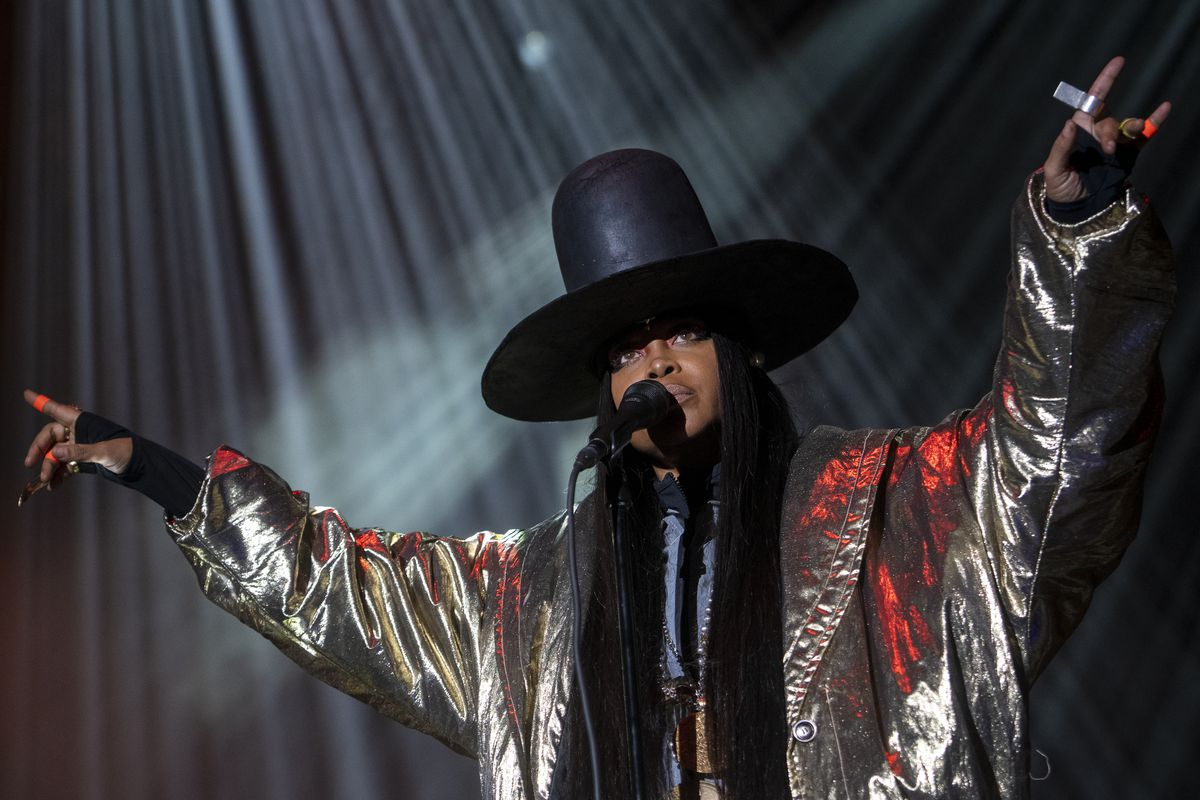 Erykah Badu performs at the Green Stage at Pitchfork music festival at Union Park on Sunday, Sept. 12, 2021.