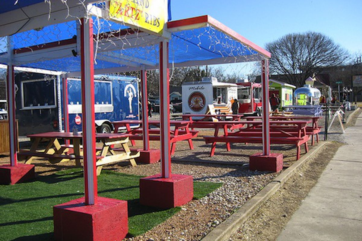Food carts on South Congress.