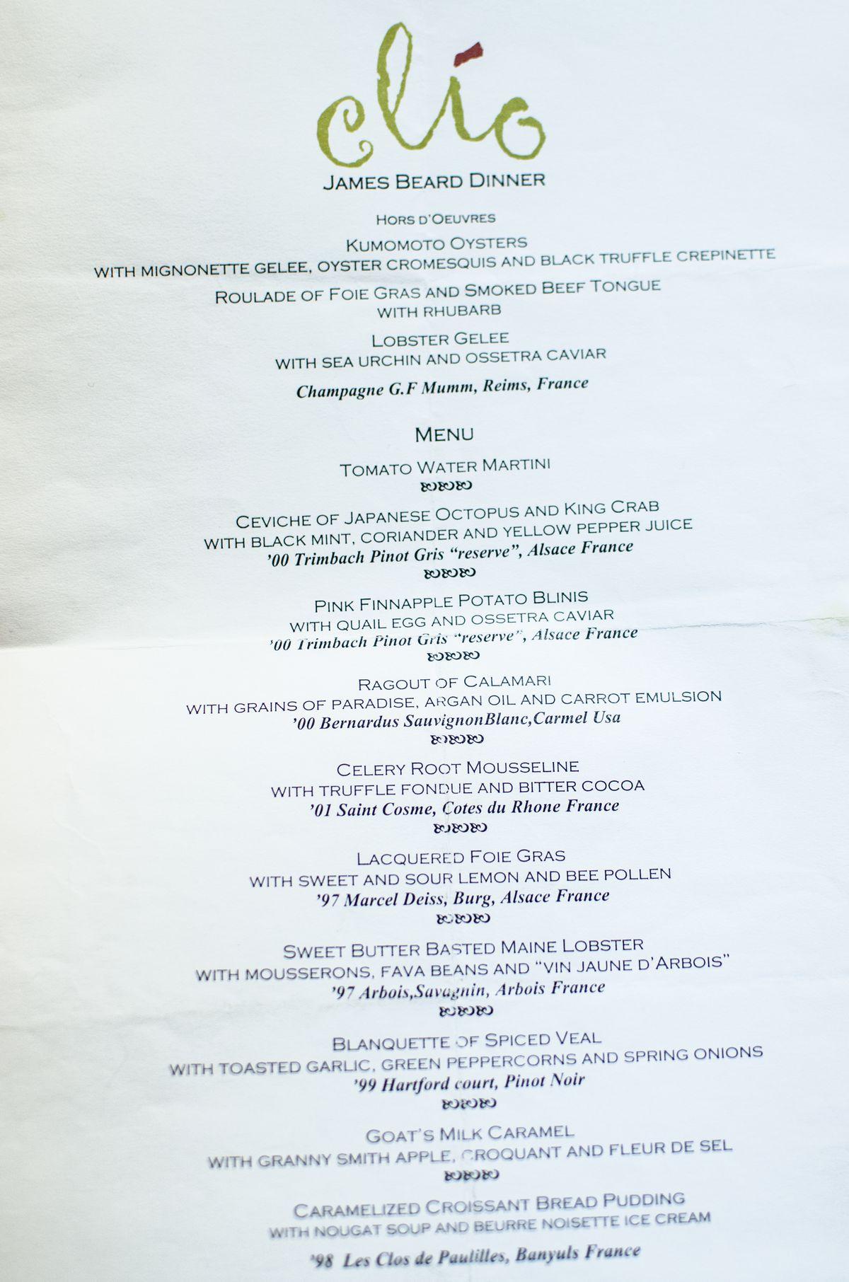 Clio menu