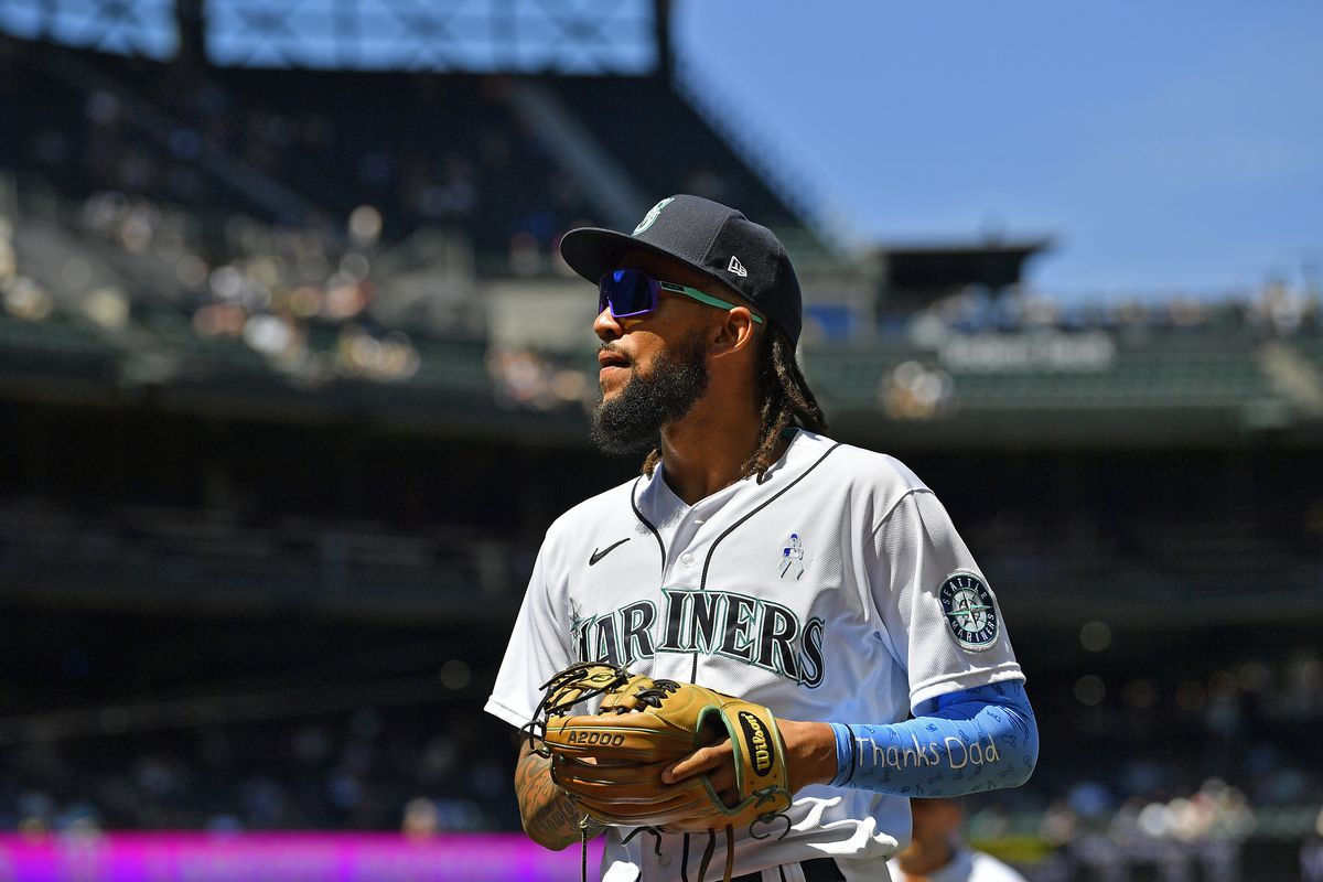 J.P. Crawford #3 of the Seattle Mariners looks on during the game against the Tampa Bay Rays at T-Mobile Park on June 20, 2021 in Seattle, Washington.