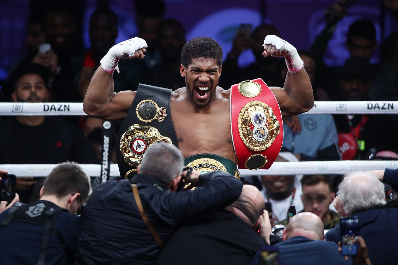 British boxer Anthony Joshua wins back his world heavyweight titles in Saudi Arabia