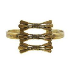 """The 2 Bandits triple bandit bow cuff, <a href=""""http://the2bandits.com/collections/bracelets/products/triple-bandit-bow-cuff"""">$66</a>"""