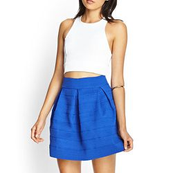 """<strong>Forever 21</strong> Textured A-Line Skirt, <a href=""""http://www.forever21.com/Product/Product.aspx?BR=f21&Category=bottom_skirt&ProductID=2000120986&VariantID="""">$24.80</a>"""