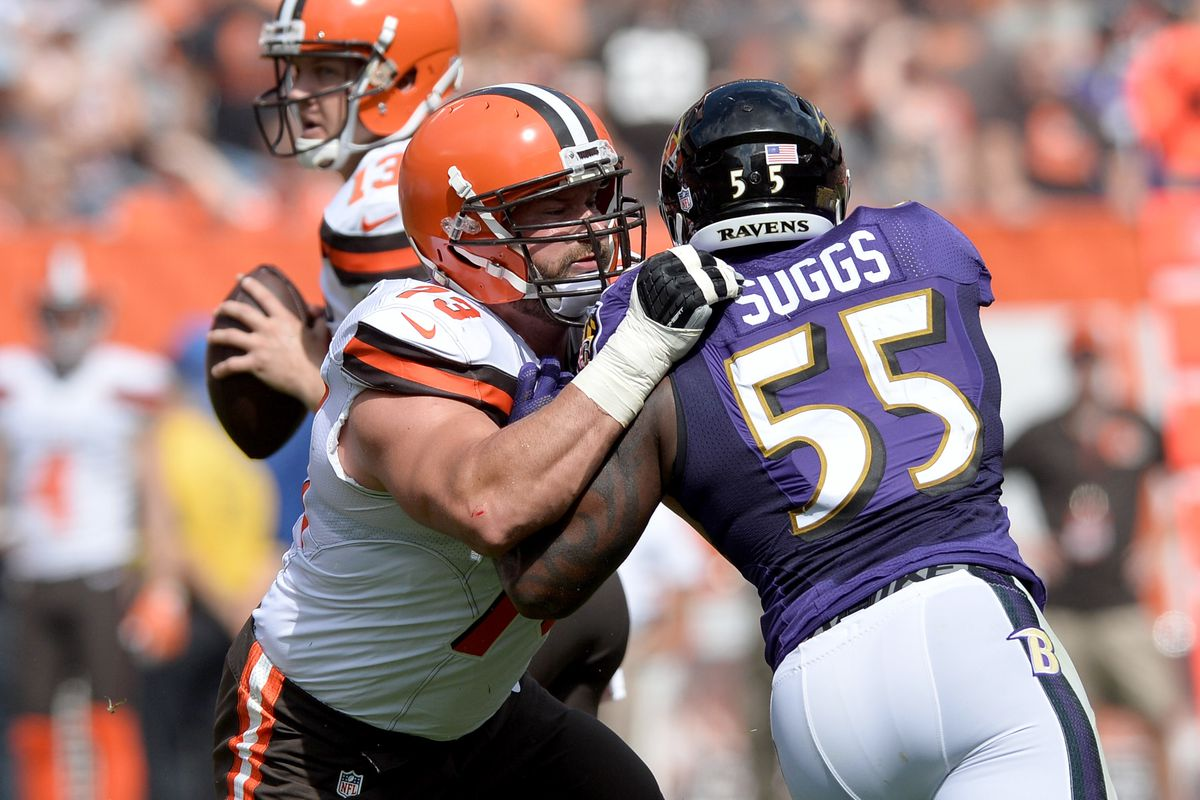 Joe Thomas cites Terrell Suggs as best he s ever faced Baltimore