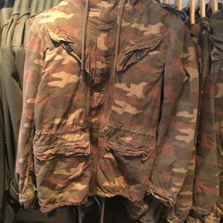 Camouflage coat, size XS, $50 (was $328)