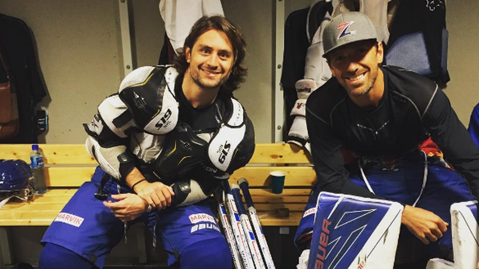 Mats Zuccarello Henrik Lundqvist Took To The Ice Again