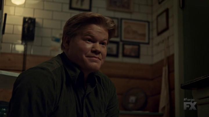 Ed's uncomfortable smile on Fargo.