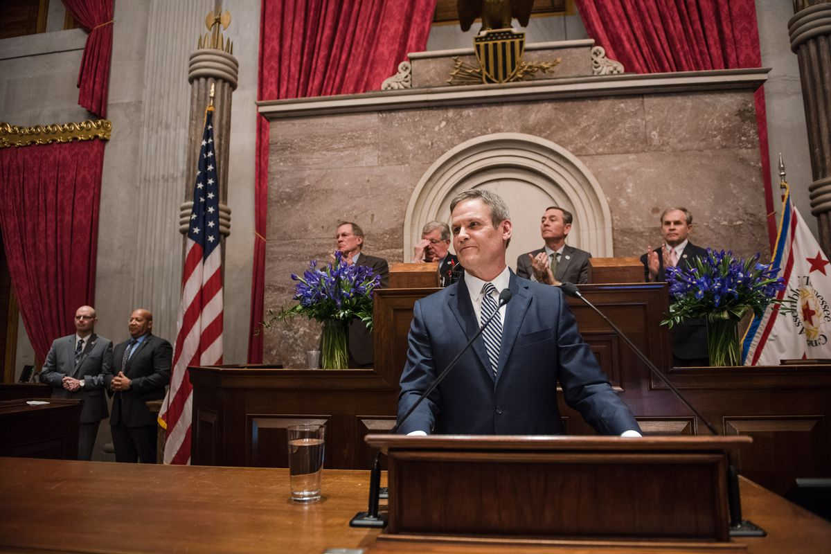 Gov. Bill Lee delivers his State of the State address on March 4, including his voucher proposal for low-income students in districts with struggling schools.