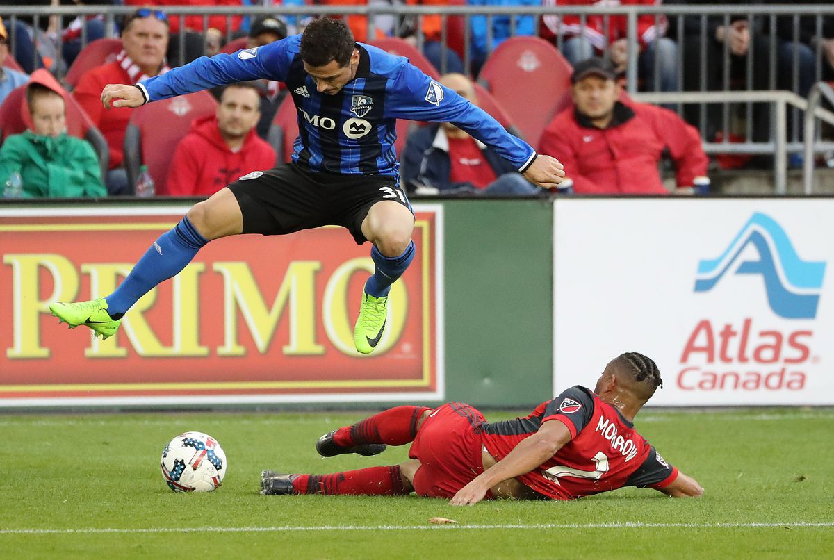 Toronto FC play the Montreal Impact on the day they are awarded the Supporters Shield