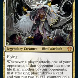 Silverquill's Commander is professor Breena, which may be the <em>Magic</em> franchise's first bird warlock.
