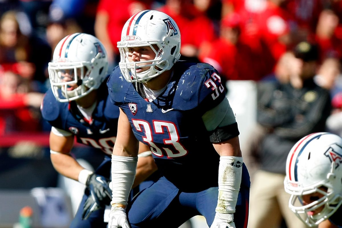 Jake Fischer leads a much-improved Arizona Wildcats linebacker group in 2013
