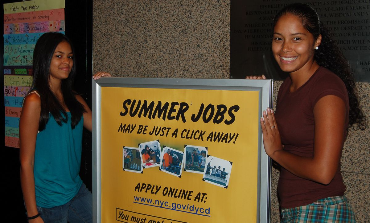 Francesca Martinez, left, and Alexis Noa participated in the city's Summer Youth Employment Program in 2008.
