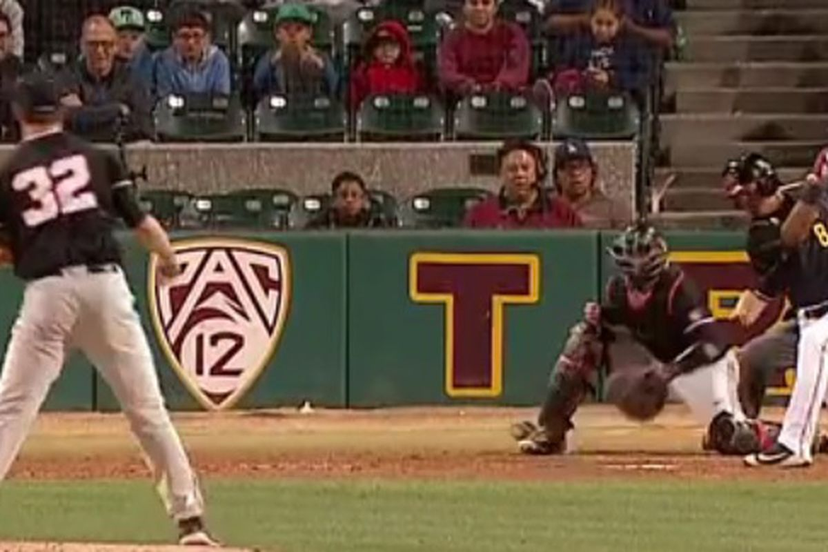 Travis Eckert flirted with a perfect game in beating USC.