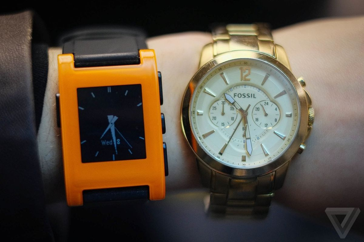 pebble fossil watch wearable fashion