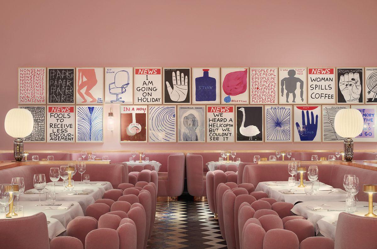 The Millennial Pink Restaurant Design Trend Isn't Going Away