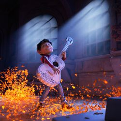 """Progression Image 3 of 3: Final Frame  ASPIRING MUSICIAN — In Disney•Pixar's """"Coco,"""" Miguel (voice of newcomer Anthony Gonzalez) dreams of becoming an accomplished musician like the celebrated Ernesto de la Cruz (voice of Benjamin Bratt). But when he strums his idol's guitar, he sets off a mysterious chain of events. Directed by Lee Unkrich, co-directed by Adrian Molina and produced by Darla K. Anderson, """"Coco"""" opens in theaters Nov. 22, 2017."""