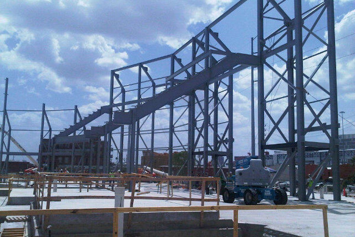 Dynamo Stadium beginning to take shape - Photo by Chris Canetti