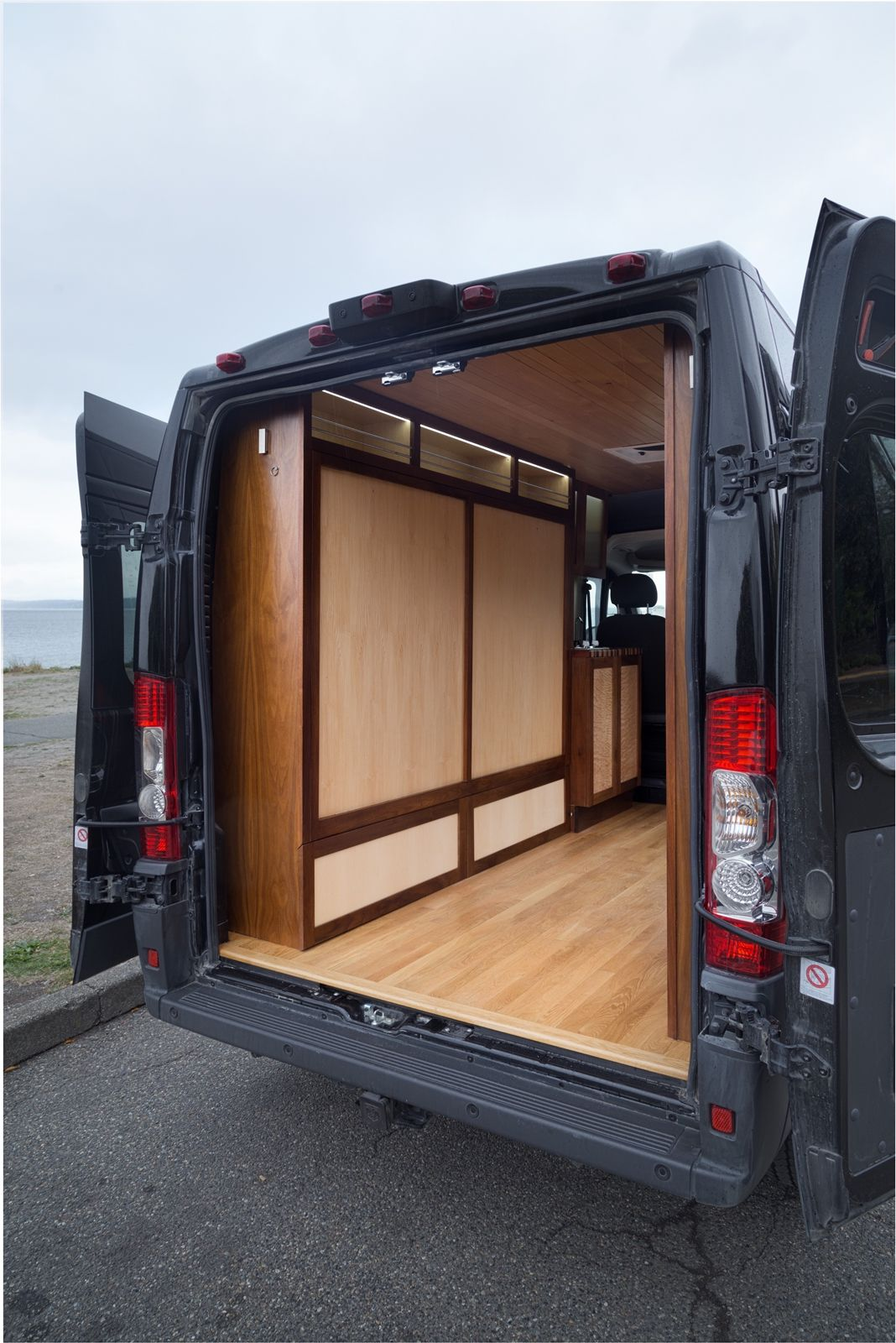 Hand Crafted Van Boasts Custom Woodworking And Foldaway