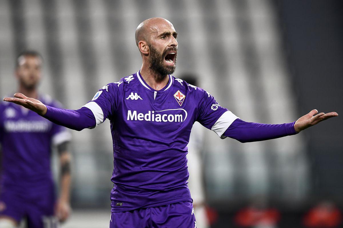 Borja Valero of ACF Fiorentina reacts during the Serie A...