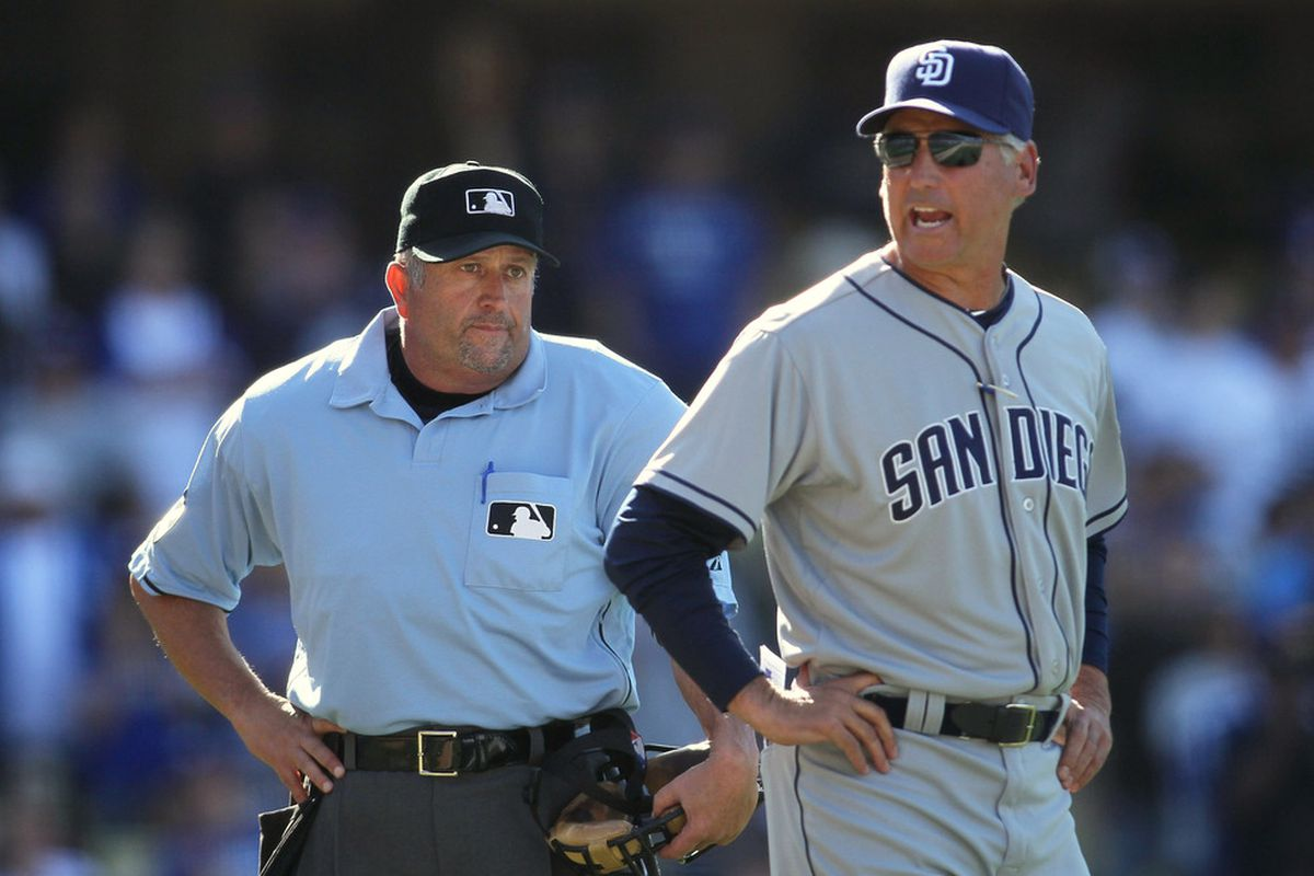 Umpire Dale Scott after realizing he needs to invent an excuse for why he's a terrible umpire.