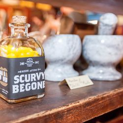 There's a decent chance that Scurvy Begone, <b>$12</b>, is a jar of lemon candies. But if you eat an entire jar, and you don't get scurvy, you can claim that it worked.