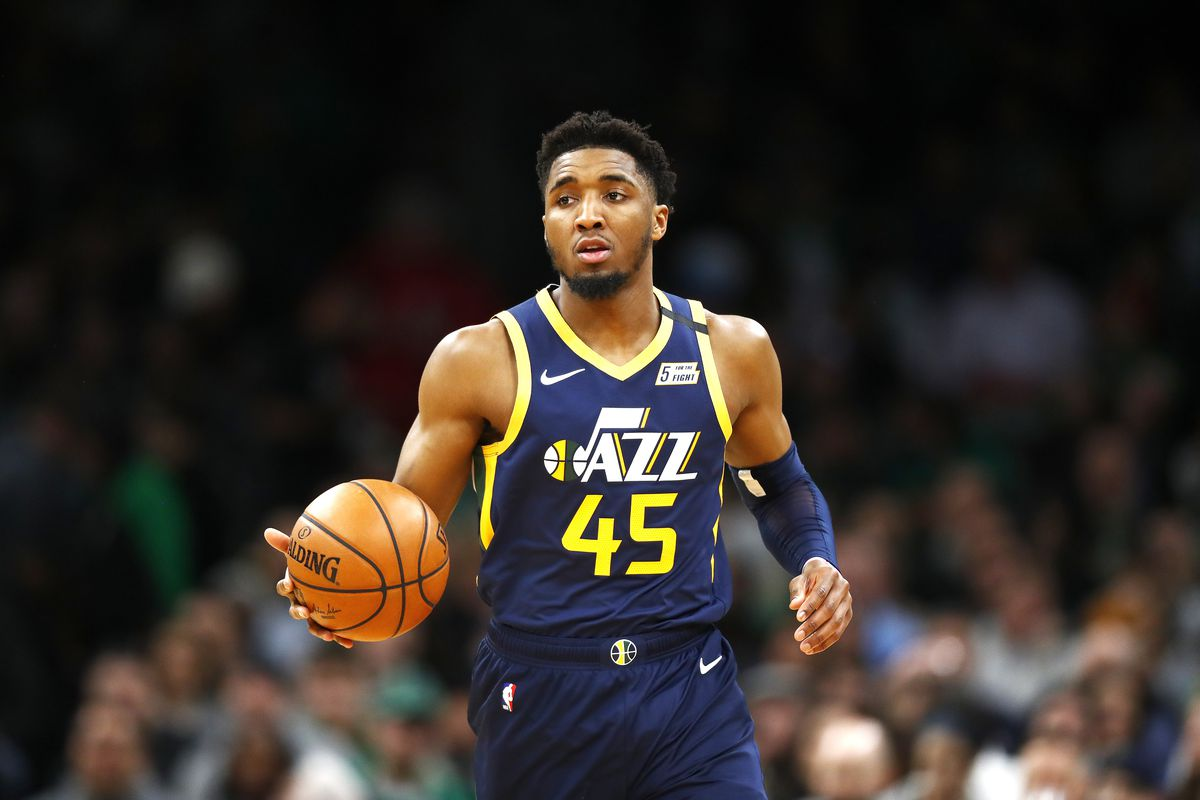 Donovan Mitchell of the Utah Jazz brings the ball up court during the third quarter of the game against the Boston Celtics at TD Garden on March 06, 2020 in Boston, Massachusetts.