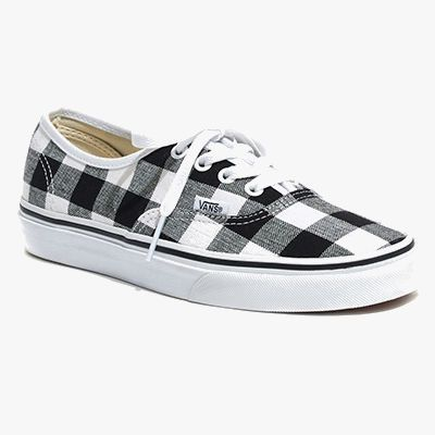 Gingham patterend sneakers