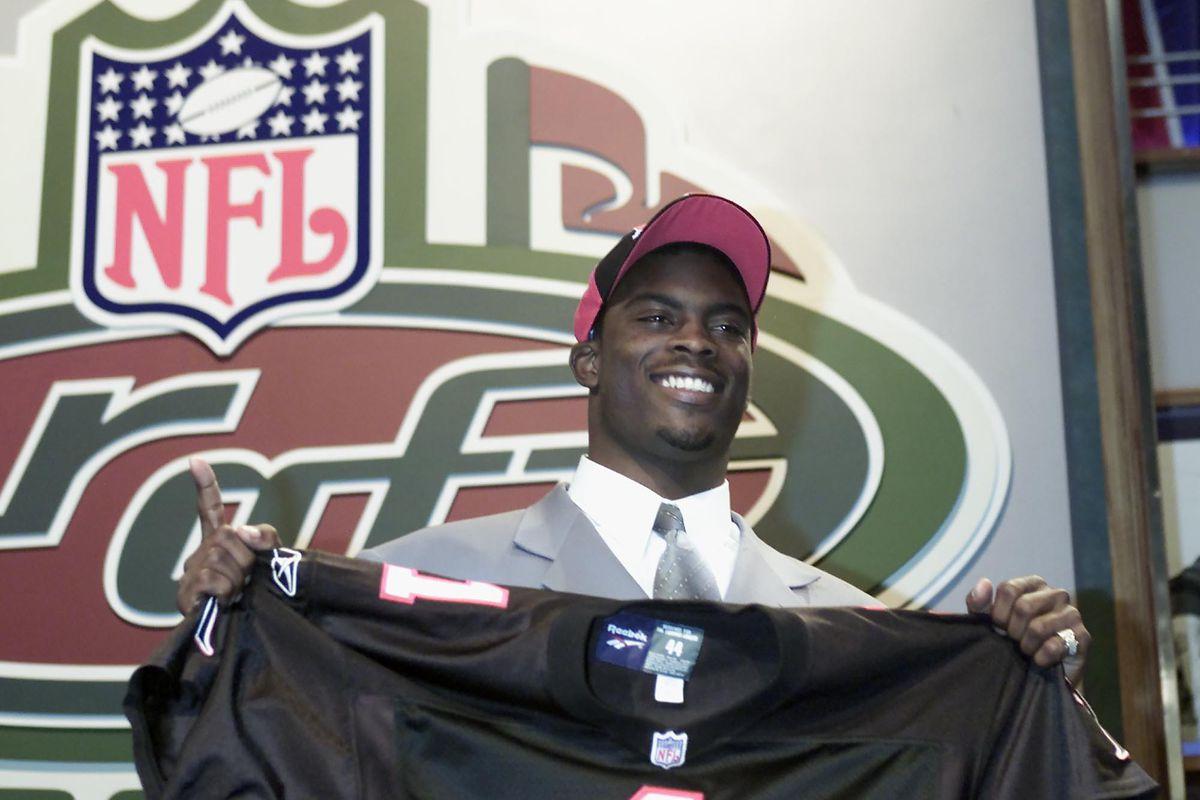 Michael Vick at NFL Draft 2001