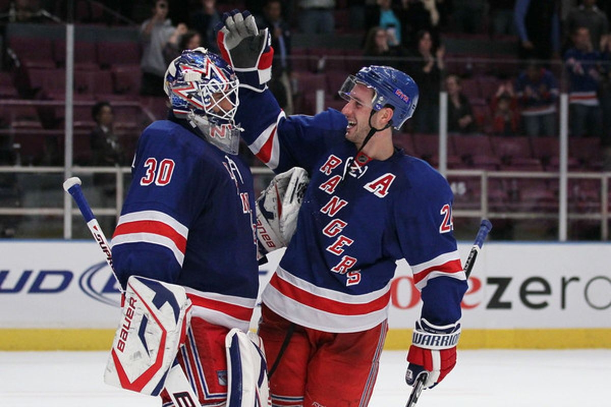 The two most important Rangers to date  (Photo by Chris McGrath/Getty Images)