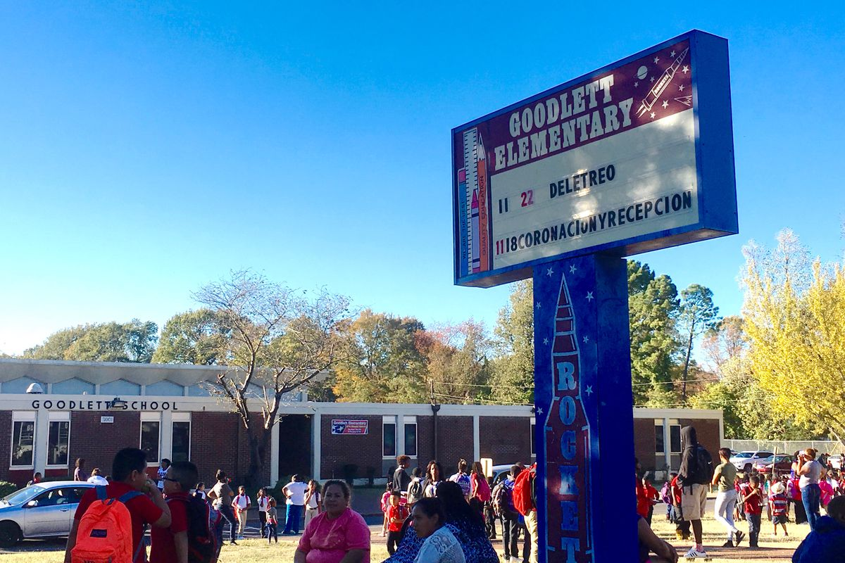 School lets out last week at Goodlett Elementary, an overcrowded school built in 1964. Superintendent Dorsey Hopson wants to replace  Goodlett with a new building under his latest facilities plan.