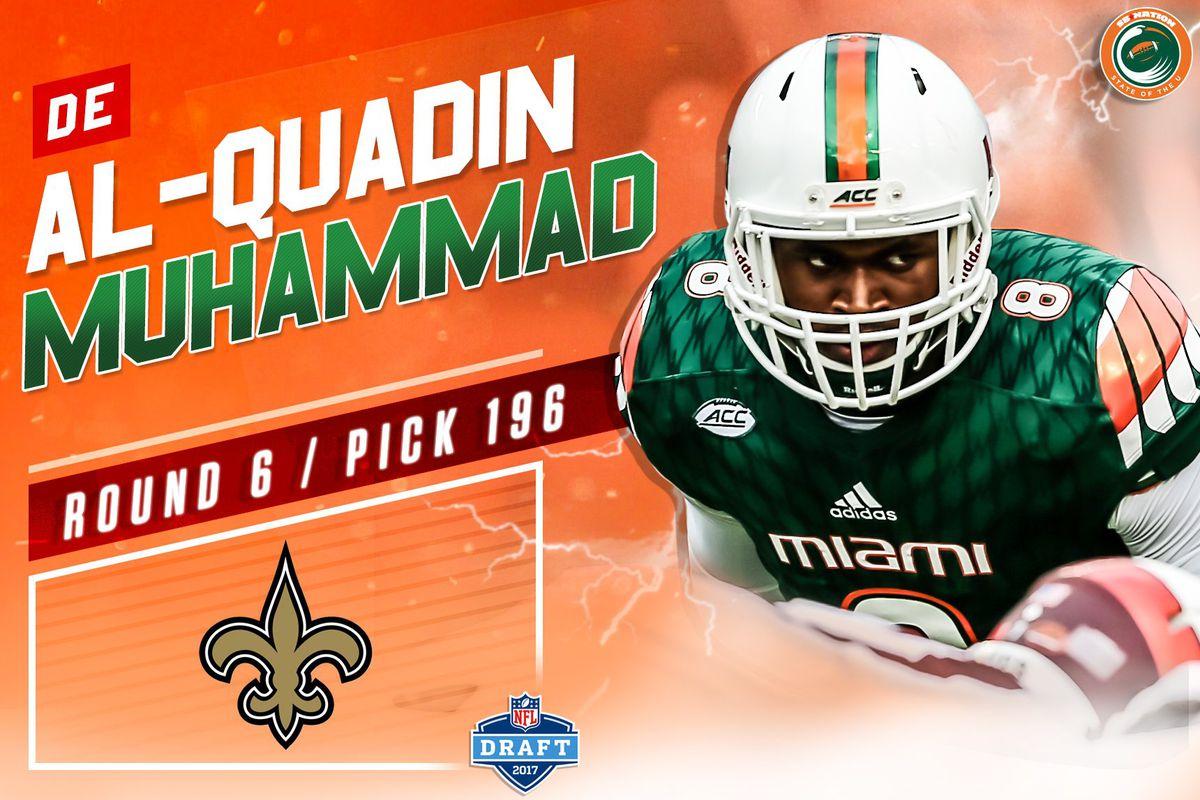 release date e4543 d66df Miami Hurricanes DE Al-Quadin Muhammad gets Drafted by the ...
