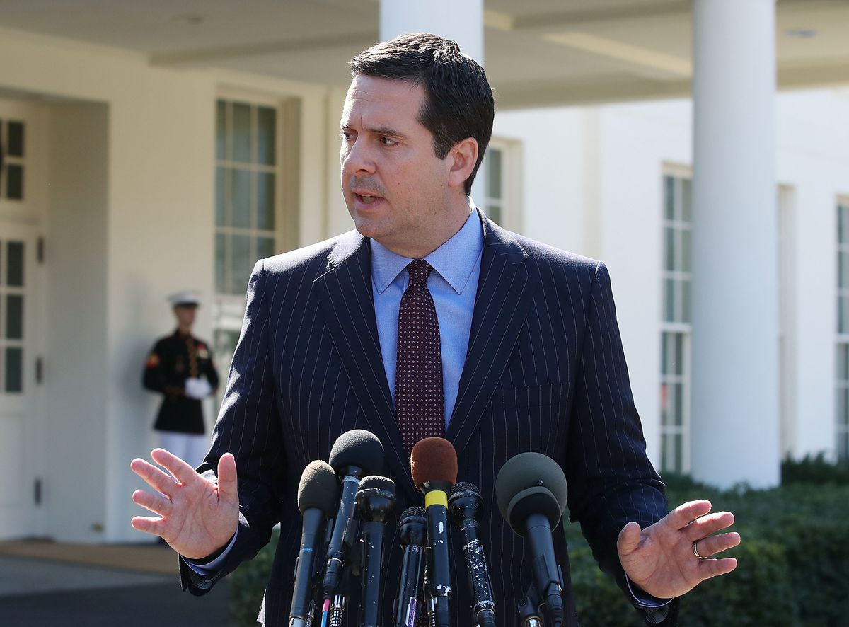 Rep. Devin Nunes Briefs Reporters At The White House On Intelligence Cmte Russia Investigation