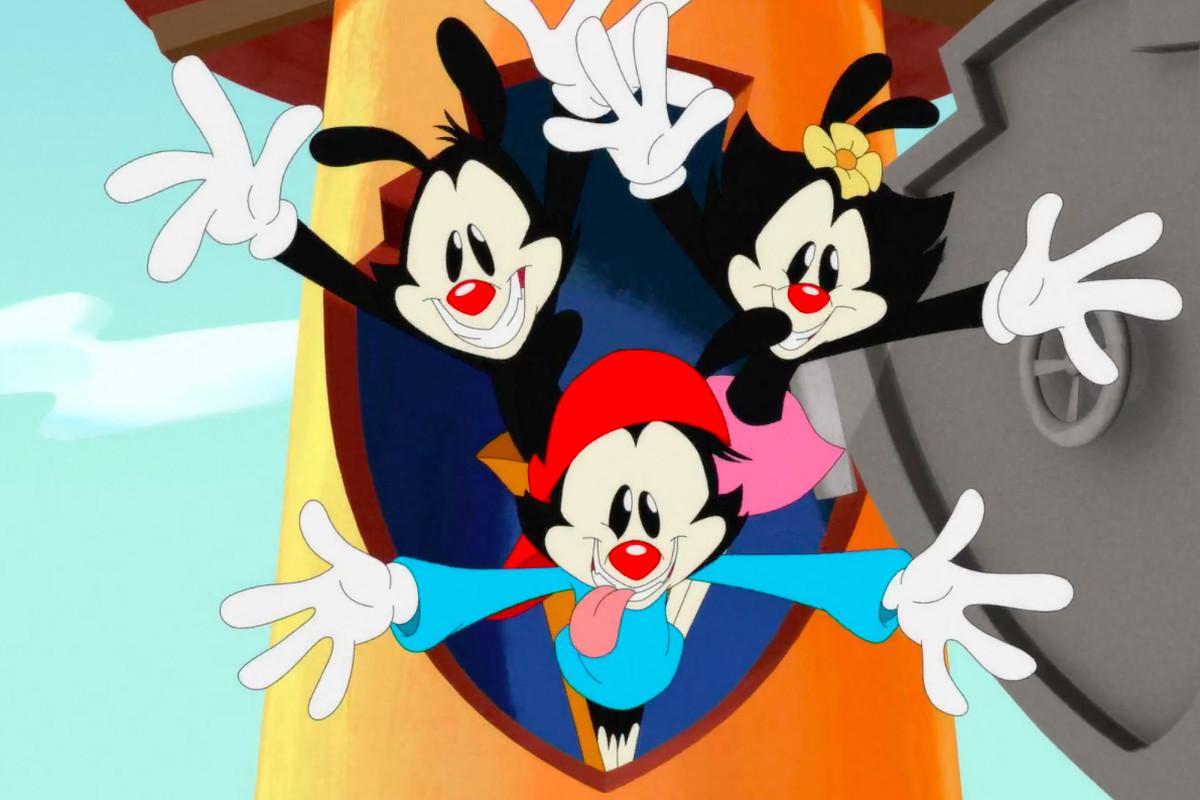 Yakko, Wakko, and Dot from Hulu's new Animaniacs reboot series
