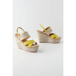 """<a href=""""http://www.anthropologie.com/anthro/product/shoesbags-wedge/24096919.jsp""""> Anthropologie Felicie wedge sandals</a>, $168 anthropologie.com"""