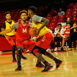 Melo Trimble and Dion Wiley.