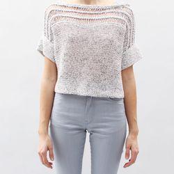 "<b>VPL</b> Peturus sweater, $345 at <a href=""http://shop.creaturesofcomfort.us/vpl-peturus-sweater-optical.aspx"">Creatures of Comfort</a>."