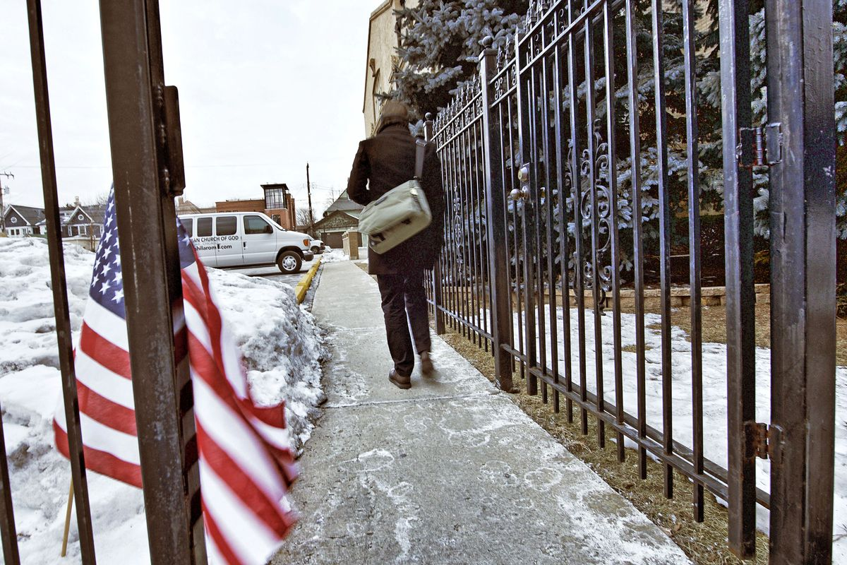 A lone voter makes his way to a North Side polling place in 2015. File Photo.