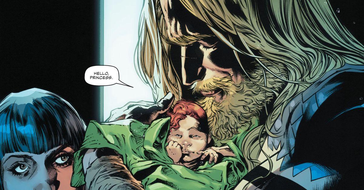 Aquaman just had a beautiful bouncing baby girl
