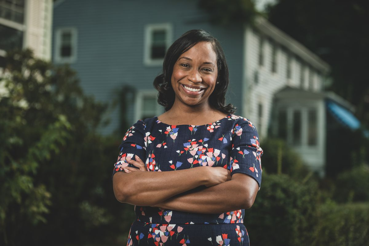A headshot of Boston City Councilor Andrea Campbell, who is running for Mayor.
