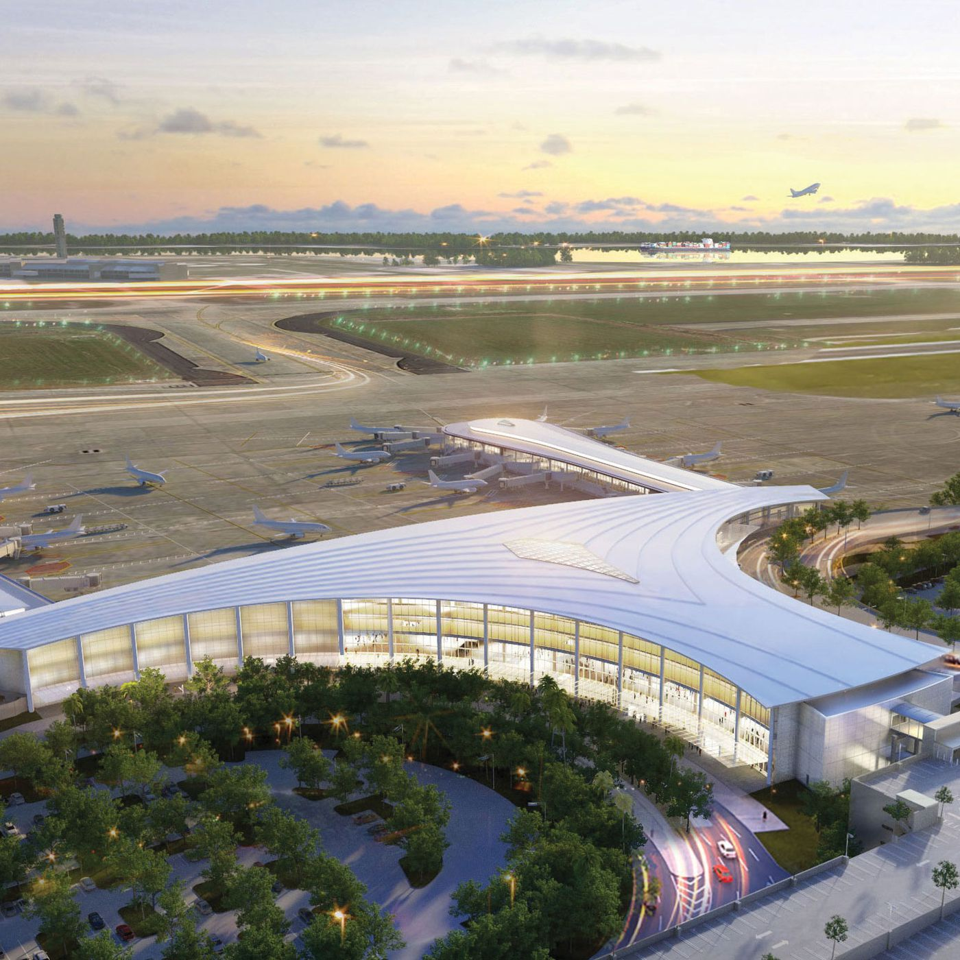 New looks at MSY airport's forthcoming $1 billion terminal ...