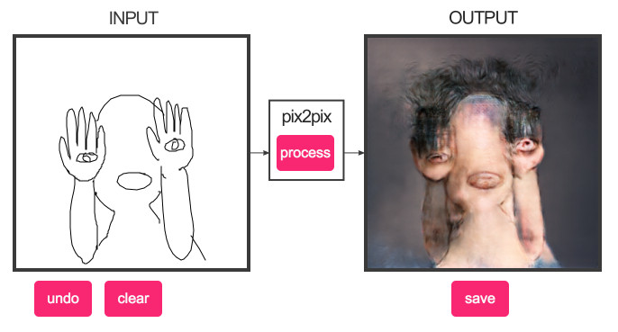 Pix2Pix is another good web tool for making horrifying