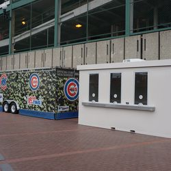 New expanded Wrigley Field Premium ticket booth on Addison