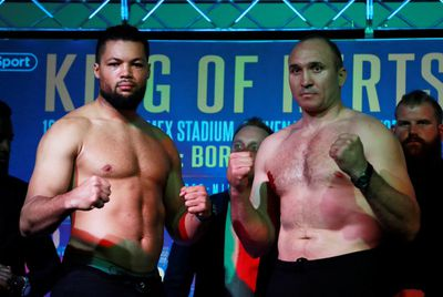 D6xnYArW0AAg3Z3 - Saunders and Isufi make weight for WBO title fight