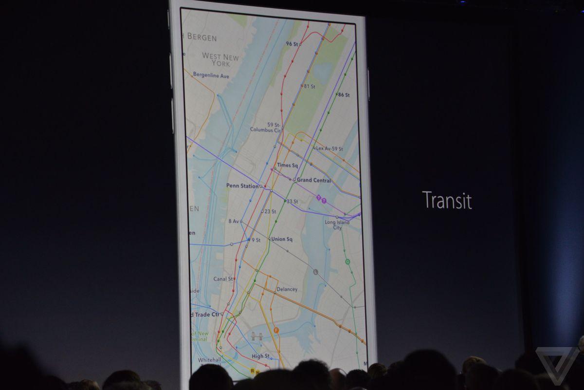 Apple Maps transit directions