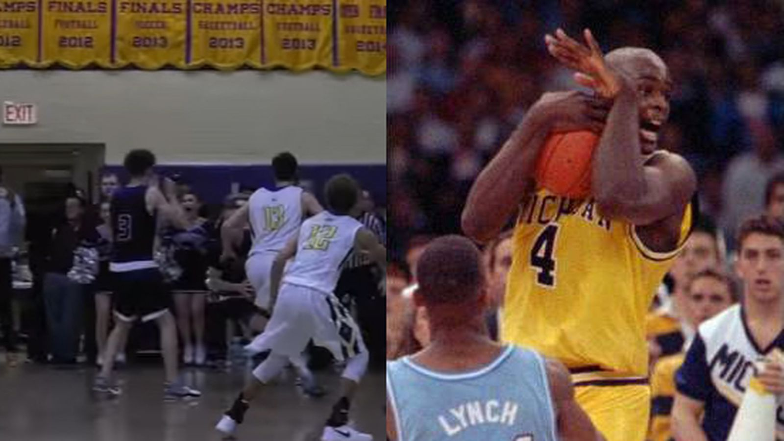 chaos erupts in high school basketball playoff after player calls illegal timeout like chris webber