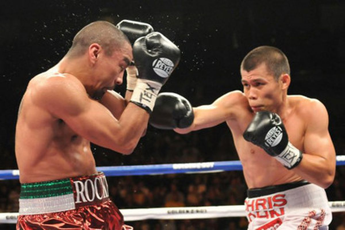 """The rematch between Chris John and Rocky Juarez highlights the September 19 Mayweather-Marquez undercard. (Photo via <a href=""""http://image.examiner.com/images/blog/wysiwyg/image/John_Juarez_(3).jpg"""">image.examiner.com</a>)"""