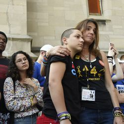 Parkland student activist Emma Gonzalez, center | AP Photo/Annie Rice