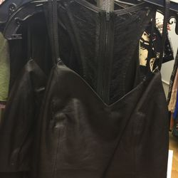 Sample leather top, $99